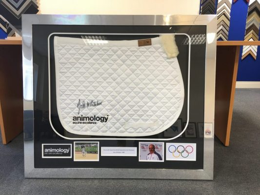 Horse Jacket Ian Whittacker MBE examples of framed sports memorabilia
