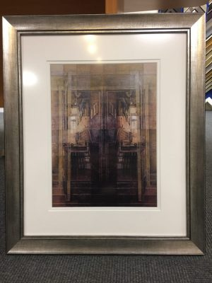 Framed artwork in stunning pewter frame
