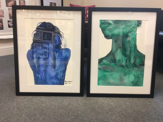 Framed Originals from a young talented artist ready for an exhibition at the Harris Museum Preston