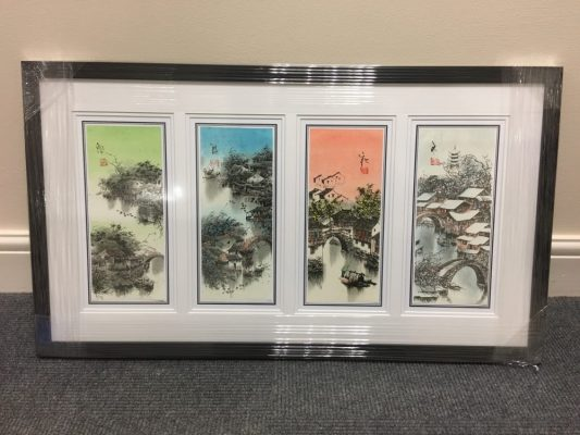 Framed Chinese Art. Four Seasons