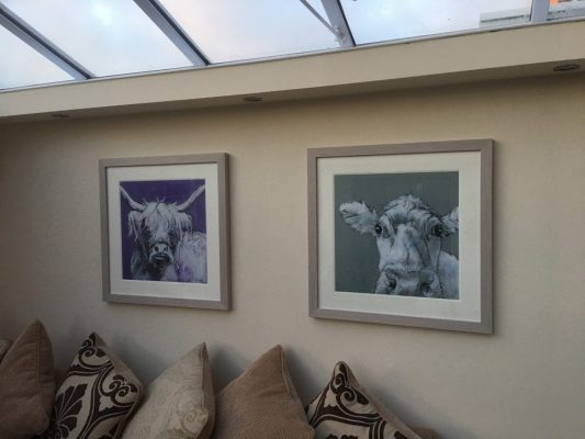 Framed Prints in Clients Residential address