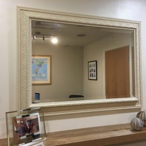 Ornate Cream Ivory Bevelled Mirror
