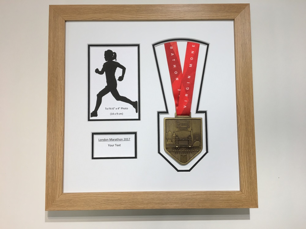 London Marathon 2018/17 Display Frame Medal / Photo / Text Choose ...