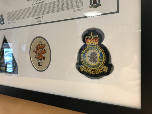 RAF Memorabilia Framed for a Client.