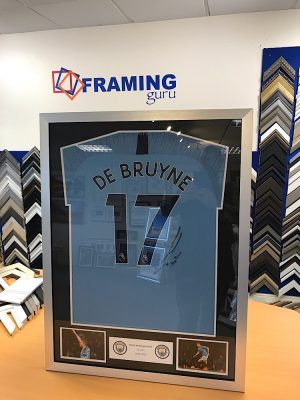 Kevin de Bruyne Signed Manchester City Framed Shirt