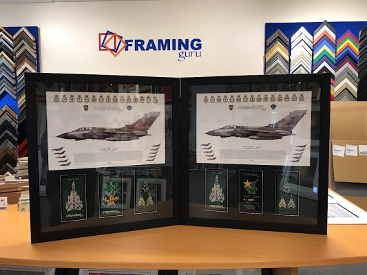 Framed Tornado Finale Print and Badges